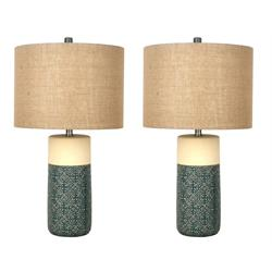 EVELYN LAMP SET NATURAL GREEN  L121864 Image